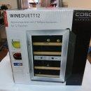Caso WineDuett 12 Weinkühlschrank, silber