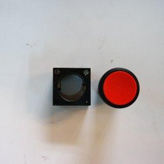 Siemens 3SB30000AA21 Drucktaster m flachen Druckknopf, mit Halter rot 3SB3000-0AA21