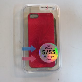Simply Smart Alu-Style Case Pink für iPhone 5/5S