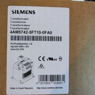 Siemens 4AM57425FT100FA0 Trafo 1000VA 4AM5742-5FT10-0FA0, 1-phasig 500/230VAC