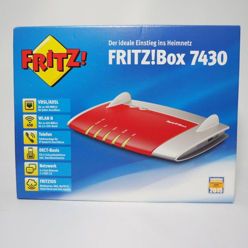 AVM FRITZ!Box 7430 DSL Modem WLAN Router 450 MBit/s, 79,00 €