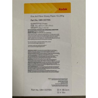 "Kodak 33 x 48,3 cm (13x19"")  Professional Inkjet Fibre Glossy Fine Art Paper, 285gsm, 33 x 48,3 cm 50 Sheets"