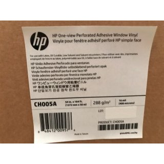 HP One-view Perforated Adhesive Window Vinyl CH005A, 1372mm x 50m (54 Zoll)