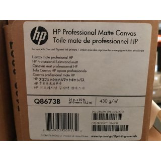 HP Professional Matte Canvas-610 mm x 15.2 m (24 in x 50 ft)