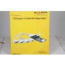 Delock PCI Express Card > 4 x Serial with power...