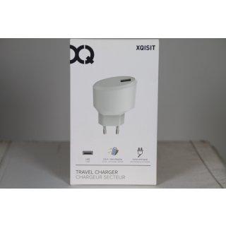 Xqisit Ladegerät (EU) 2,4 A – USB-A Weiß