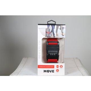 MOVE Combi Strap Koffergurt mit Kombinationsschloss 190x3,57 cm Rot