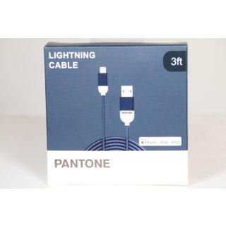 PANTONE Kabel Lightning USB 1m dunkelblau