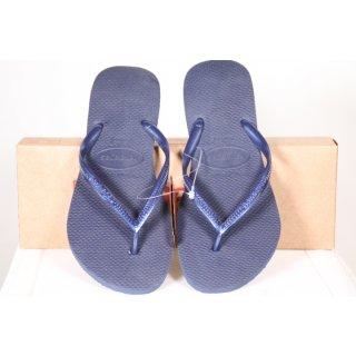 Havaianas Damen Slim Flip Flop, Navy Blue 0555, 37/38