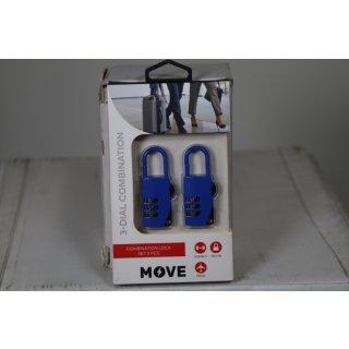 Move Zahlenkominationsschloss Set 2 Stück Vorhängeschloss Kofferschloss