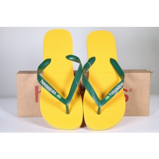 Havaianas Brasil Logo, Unisex-Erwachsene Zehentrenner, Gelb  43/44