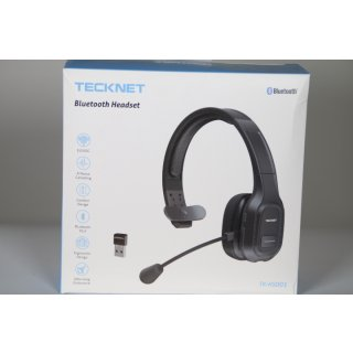 TECKNET Bluetooth Headset mit Mikrofon