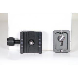 Neewer 50mm  QR-Platte + Klemme mit Wasserwaage und verstellbarem Hebelknopf