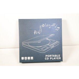 NIXIUKOL Tragbarer CD Player 1500mAh Persönlicher Wiederaufladbar MP3 CD Player mit Doppelte 3.5mm Kopfhörern Buchse