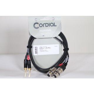 CORDIAL 1,5 m Doppel-XLR-Buchse/Rca-Audiokabel