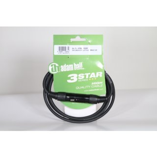 Adam Hall Cables K3DMF0150 DMX Kabel XLR male auf XLR female 1,5m