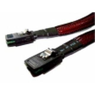 Fujitsu 4-Port SAS Cable - Kabel - Digital / Daten SAS Kabel - 6-polig - Schwarz